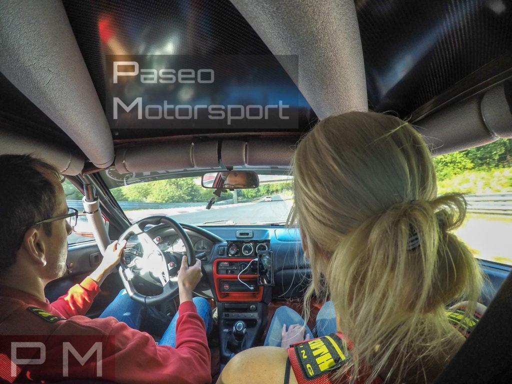 Feuertaufe auf der grünen Hölle - Nürburgring mit dem Paseo